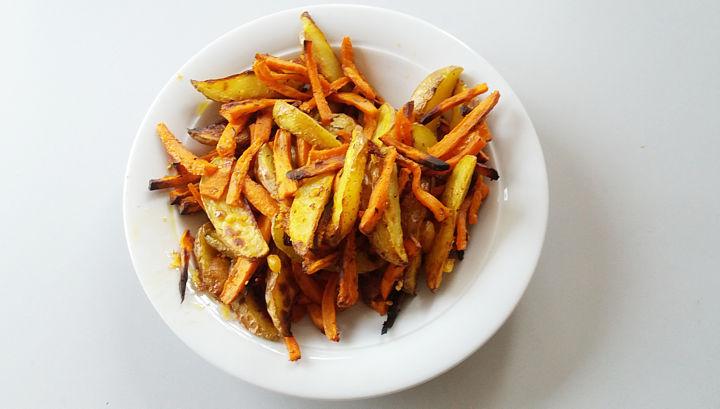 Parmesan-Süßkartoffelfritten