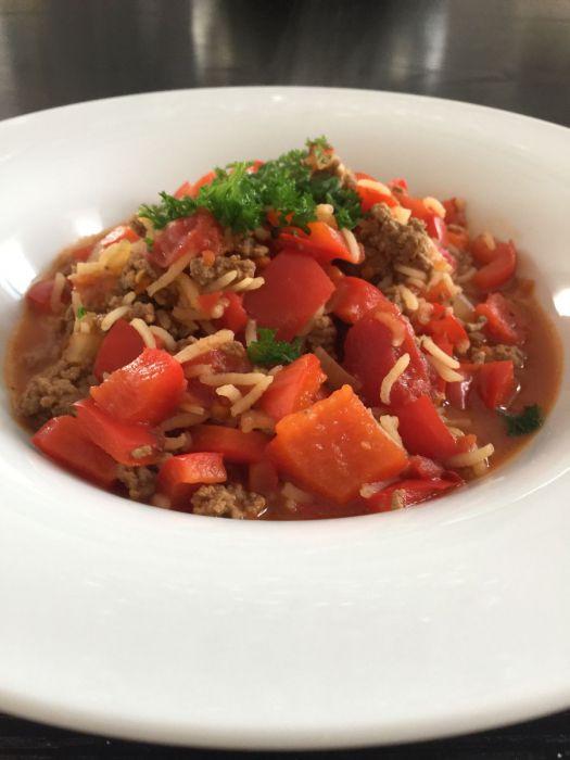 Gefüllte Paprika-Suppe